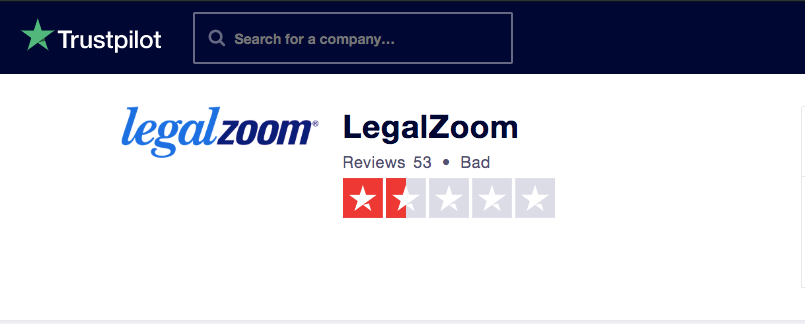 LegalZoom Rating