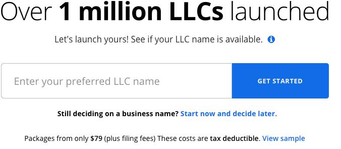 LegalZoom LLC Formation
