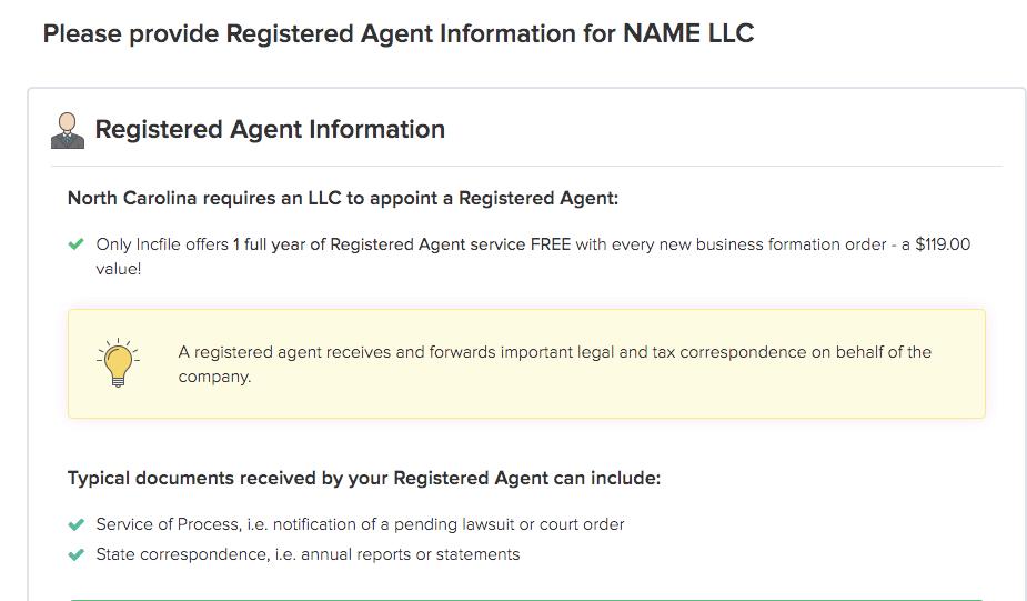 Registered Agent Information